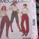 McCall sewing Pattern jodhpurs Knicker Pants 7670 Size 10 waist 25 No. 193