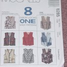 8285 McCall's Size Large Vests Lined vests  No. 193