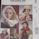 McCalls 5541 Fashion Accessories One Size Hats Scarves Mittens  No. 225