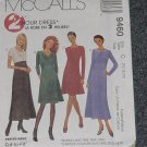 McCalls 9460  Empire Waist Dress Size C 10, 12, 14 No.167