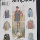 Simplicity 9640 Vests Squared Shaped Vests Size AA XS, S, M  No. 226
