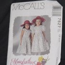 McCalls 7627 Children's Girls' Dress Size CF 4, 5, 6  No. 226