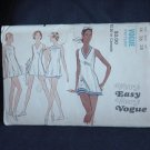 8257 Very Easy Very Vogue Tennis Dress Shorts Vintage Vogue 8257 Size 14 Bust 36  No. 226