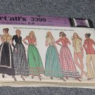 McCalls 3399 Misses' Skirt Bodysuit Blouse Size 8 No. 226