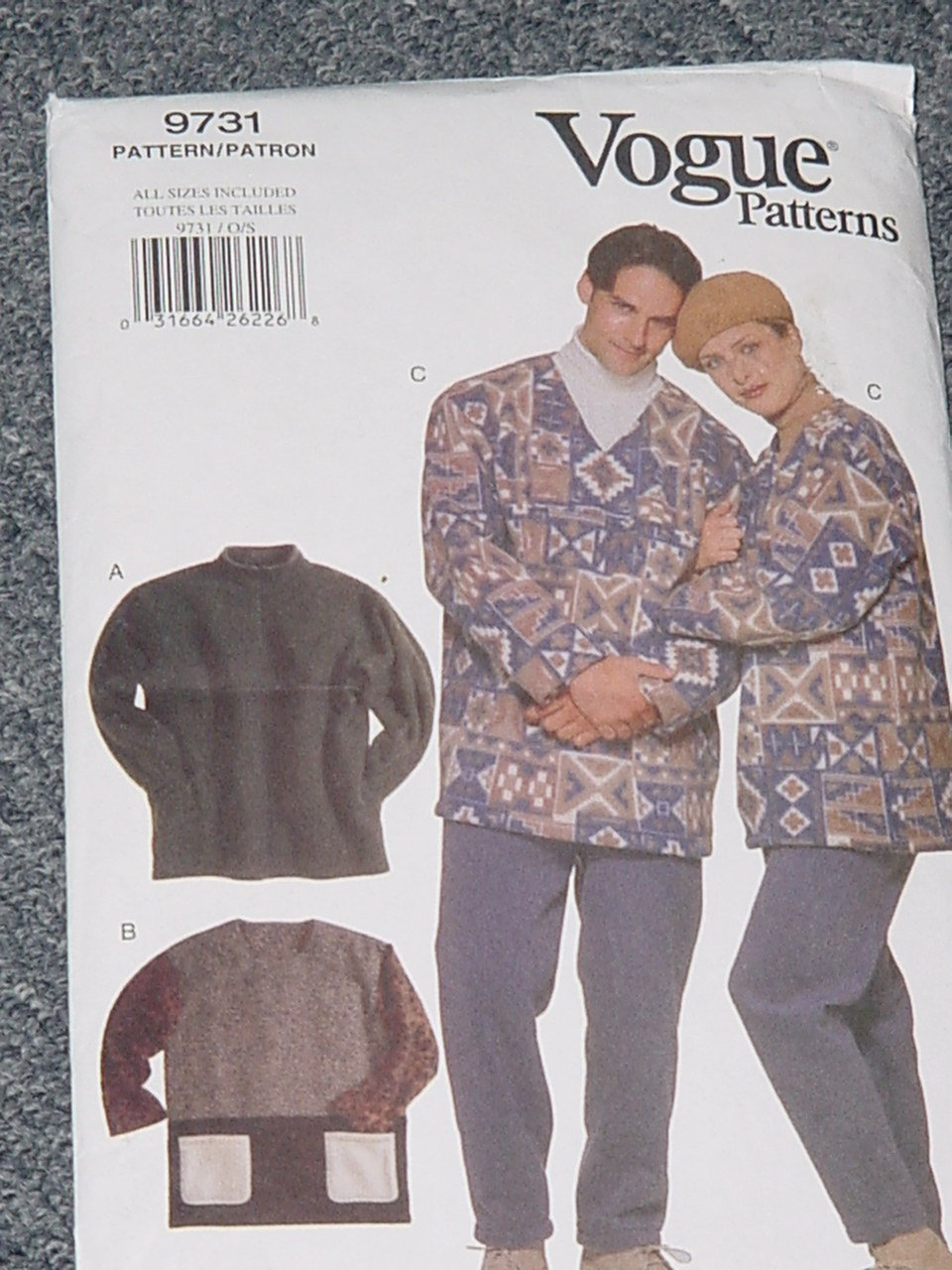 Vogue 9731 Scrubs Top Pants All Sizes Included   Uncut No. 226