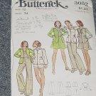 3052 Butterick Vintage Pattern Jacket Skirt Pants Shorts Size 12  No. 226