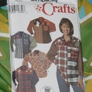 Simplicity Crafts 7505 Size P 12, 14, 16 Shirt with Appliques No. 227