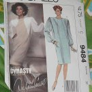 McCalls 9484 Pullover Dress Dynasty Series Diahann Carroll Misses'  Size 12 No. 227