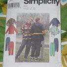 Simplicity 8322 Misses' Mens Teen Jackets Pants Size BB L, XL No. 227