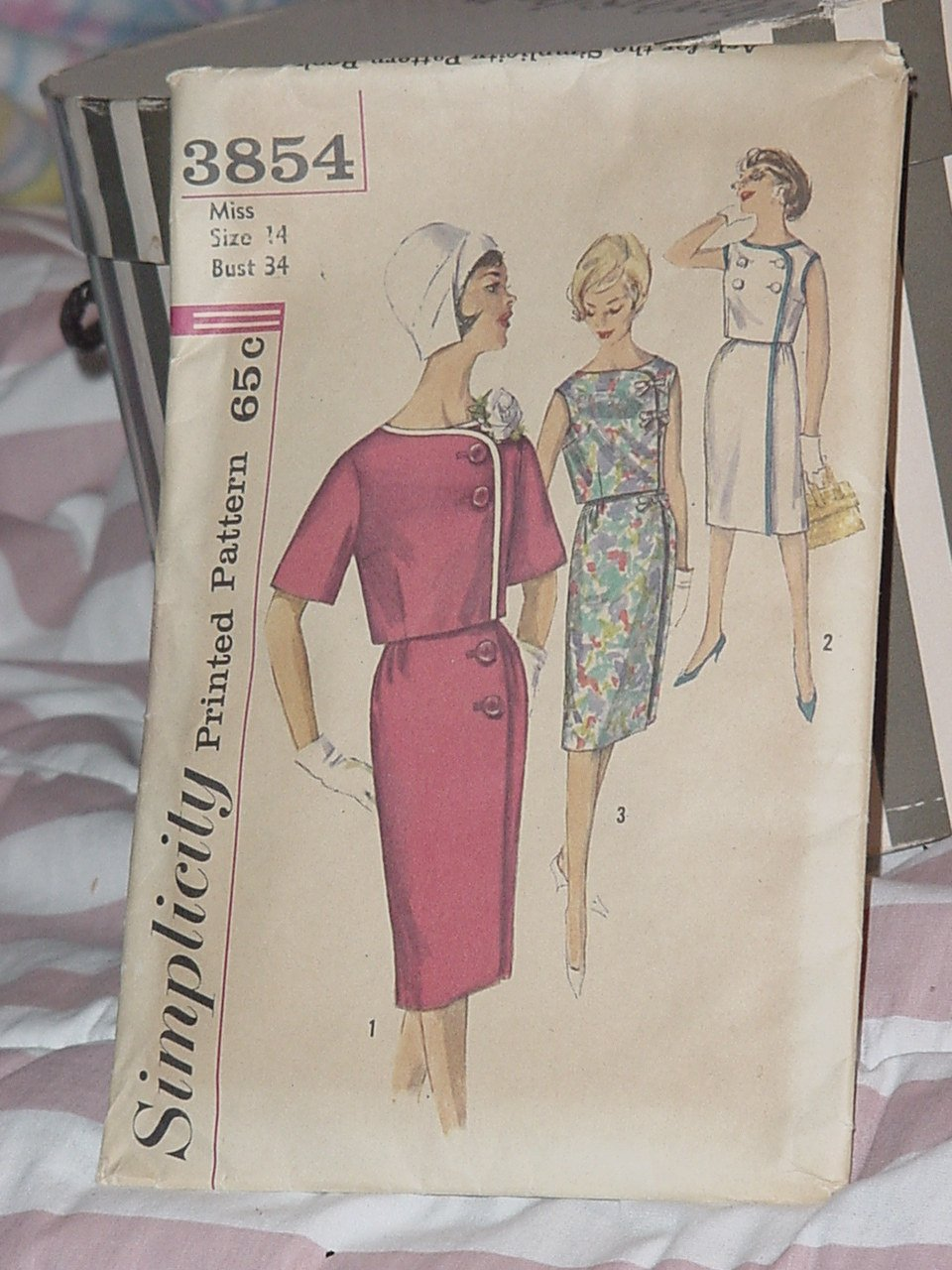 Simplicity 3854 Misses Two Piece Dress Wrap around Skirt Size 14  No. 241