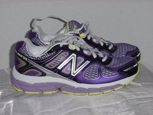 Women's Running New Balance 860 V4 Purple Lime 9 D Athletic Shoes  No. 240