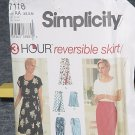 7118 Simplicity Sewing Pattern 3 Hour Reversible Skirt Uncut  No. 250