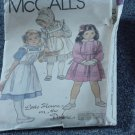 8686 McCall's Sewing Pattern Little House on the Prairie Child  Size 4 Uncut  No. 250
