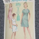 Simplicity 7072 Vintage Pattern Jiffy Dress Size 16 No. 247