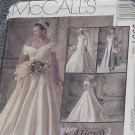 6951 McCall's Bridal Gown Wedding Bridesmaid's Dress Formal Dress Uncut Size 16 No. 250