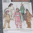 Simplicity 8282 Childs Native American Costume Theater Play Halloween Size A 3,4,5,6,7,8  No. 250