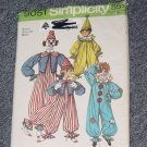Simplicity Pattern 9051 Clown Costume Adult Boys Girl Costume Halloween Ucut  No 250