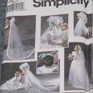 8463 Simplicity Bridal Veils Shoe Decorations Uncut One Size No. 250