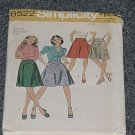 Simplicity Pattern 6522 Misses Skirts Size 10 Waist 25 Ucut  No 250