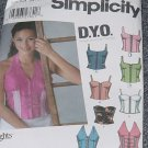 Simplicity Pattern 5113 Misses Corset Top Size AA 3/4-9/10 Ucut  No 250
