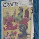 McCall's Crafts Prehistoric Pals Pattern 6275  Ucut  No 250