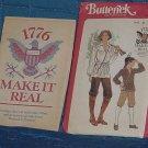 Butterick Pattern 4210 Colonial Shirt Belt Knickers Pants 1776 idea sheet cut  No 250