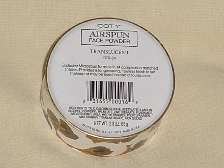 Coty Airspun Face Powder Translucent 070-24  No. 155