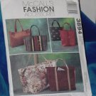 3894 McCalls Fashion Accessories 6 styles of Lined Bags Uncut   No. 250