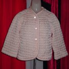 Vintage Barbizon quilted pink bed jacket No. 240
