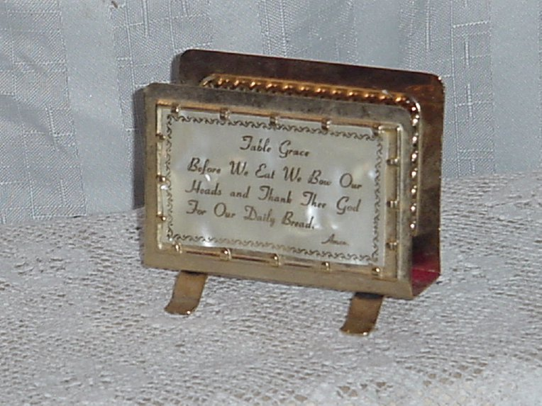 Table Grace Gold tone Napkin holder  No. 314
