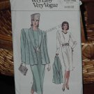 Very Easy Very Vogue 1980's - Vogue Pattern 9970 Uncut Sizes 14-16-18  Dec  3