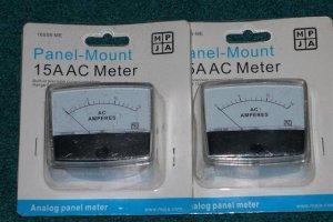 2----15 Amp Ac Meters......New