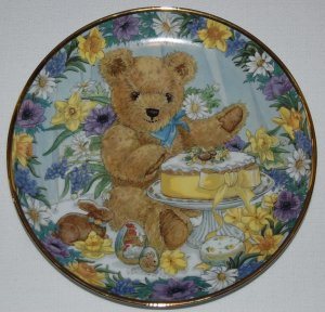 Franklin Mint Teddy's Easter Treat Collectors Plate LE