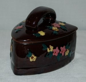 Made in Japan Iron Shaped Trinket Box