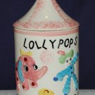 Vintage LollyPop Jar Made In Japan, Circus Motif