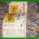 YARN - Regia - SILK COLOR - Blue, Green, Orange, White (0184) - MACHINE WASH