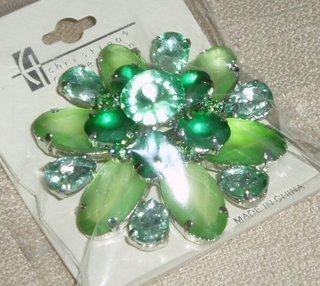 Green Jeweled Pin