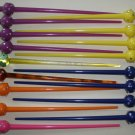 Hair Stick LOT - Colored & Jeweled Spheres