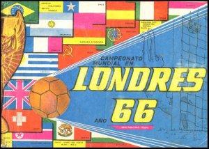 SOCCER WORLD CUP LONDON 1966 Sticker's album