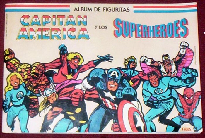 CAPTAIN AMERICA AND SUPERHEROES STICKER ALBUM MARVEL