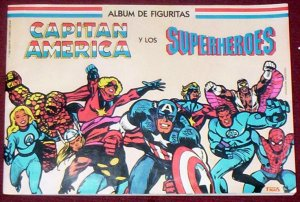 CAPTAIN AMERICA AND SUPERHEROES STICKER ALBUM MARVEL
