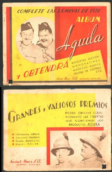 LAUREL and HARDY Sticker album URUGUAY 1935 Movie
