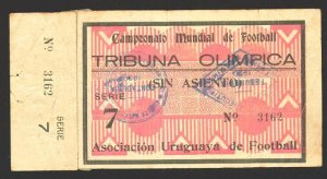 SOCCER WORLD CUP 1930 TICKET Serie 7 - Very rare