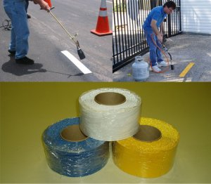 """4"""" X 30' WHITE Preformed Thermoplastic Tape ROLLS"""