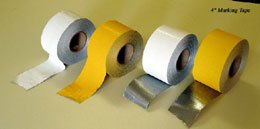 "4"" X 150' HEAVY DUTY WHITE Pavement Marking Tape ROLLS"