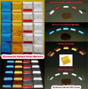WHITE/RED Reflector PLUS double stick adhesive butyl pad