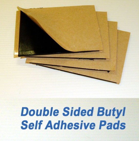 4 x 5 inch Double Stick Self Adhesive Butyl Pad