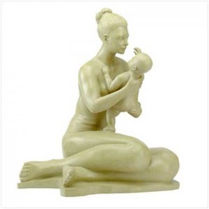 MOTHER AND CHILD STATUE