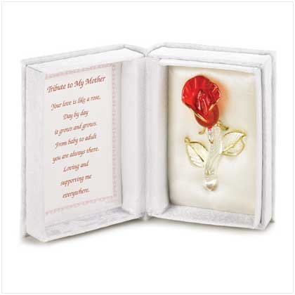 TRIBUTE TO MY MOTHER TREASURE BOX WITH ROSE