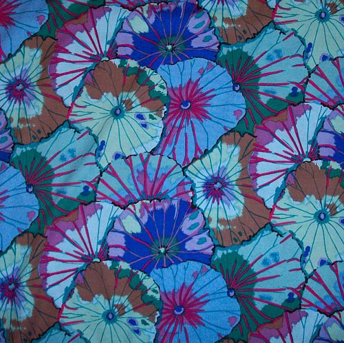 Kaffe Fassett Lotus Leaf Blue Fabric
